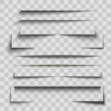 Gray Stripes Shadows Set su fondo trasparente Vettore royalty illustrazione gratis