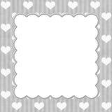 Gray Stripes y fondo blanco de los corazones Foto de archivo