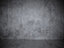 Gray Stucco Concrete Wall and Floor Copy Space Background Royalty Free Stock Photography