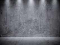 Gray Stucco Concrete Wall and Floor Copy Space Background Stock Photos