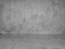Gray Stucco Concrete Wall and Floor Copy Space Background Royalty Free Stock Images