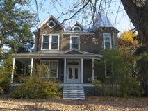 Gray Stucco House Stock Photo