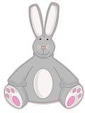 Gray Stuffed Animal Bunny. Cute stuffed animal sitting happily awaiting a hug royalty free illustration