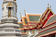 Gray Stupa In Wat Pho Temple - Bangkok Royalty Free Stock Photography
