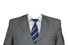 Gray suit. Isolated on white background Royalty Free Stock Images