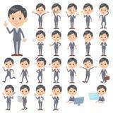 Gray Suit Businessman Lizenzfreie Stockbilder