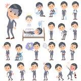 Gray Suit Businessman About die Krankheit Stockbilder