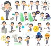 Gray Suit Businessman-Geld Lizenzfreies Stockfoto