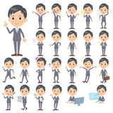 Gray Suit Businessman. Set of various poses of Gray Suit Businessman Royalty Free Stock Images