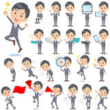 Gray Suit Businessman 2. Set of various poses of Gray Suit Businessman 2 Royalty Free Stock Image