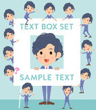 Gray Suit Businessman-Textbox Lizenzfreies Stockfoto