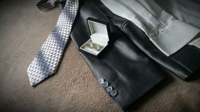 Gray suit and tie royalty free stock images