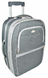 Gray suitcase. Suitcase for travel and leisure and baggage Stock Photo