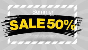 Gray Summer Sale-het ontwerp van het bannermalplaatje Lay-outontwerp eind van de banner van de seizoenspeciale aanbieding Vector  royalty-vrije illustratie