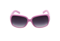 Gray sunglasses with violet frame Stock Image