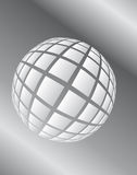 Gray surround the ball in space Stock Photo