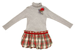Gray sweater or dress Royalty Free Stock Photos
