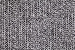 Gray sweater macro Royalty Free Stock Image