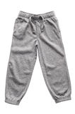 Gray sweatpants isolated Stock Photography