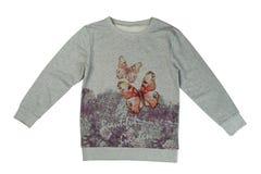 Gray sweatshirt with a print, isolate Stock Photo