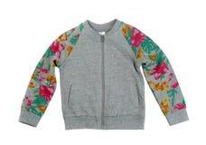 Gray sweatshirt with a print Stock Photo