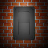 Gray Switch on Wall Stock Photography