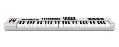 Gray synthesizer isolated on white Stock Images