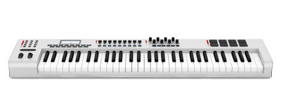 Gray synthesizer isolated on white Royalty Free Stock Images