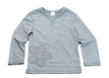 Gray T-shirt with long sleeves Royalty Free Stock Images