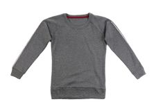 Gray t-shirt with long sleeves Royalty Free Stock Photo