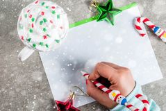 Christmas letter concept Royalty Free Stock Photos