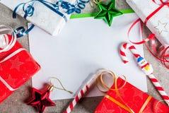 Christmas letter concept Stock Photos