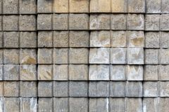 Gray Tan Paver Stack Royalty Free Stock Photo