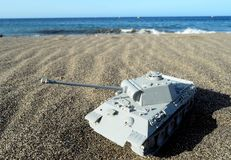 Gray Tank Model arkivbild
