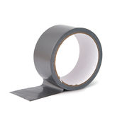 Gray tape isolated Stock Photo