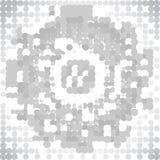 Gray Technology Background abstracto, vector Fotografía de archivo