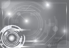 Gray technology background Stock Image