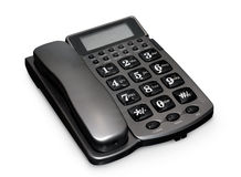 Gray telephone Stock Photography