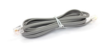 Gray telephone cord Royalty Free Stock Photography