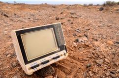 Gray Television Abandoned quebrado Fotos de archivo libres de regalías