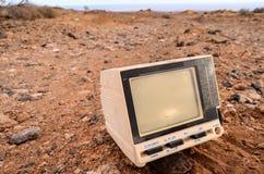 Gray Television Abandoned quebrado Imagenes de archivo