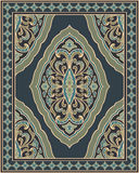 Gray template for carpet. Oriental abstract ornament. Gray and green template for carpet, shawl, textile and any surface. Ornamental color pattern with filigree Royalty Free Stock Photography