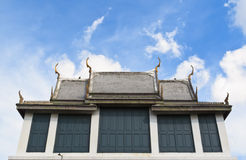 Gray temple roof Royalty Free Stock Photos