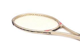 Gray tennis racket. Royalty Free Stock Photos