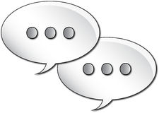 Gray Text Bubbles Stock Images