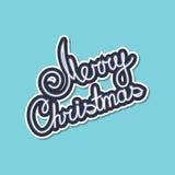 Gray Text Merry Christmas su fondo verde Fotografie Stock Libere da Diritti