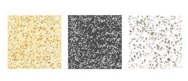 Gray Texture pattern set Royalty Free Illustration