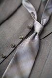 Gray tie royalty free stock image