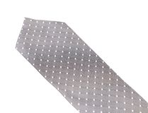 Gray tie with white speck. Stock Images