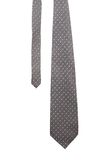 Gray tie with white speck. Royalty Free Stock Photo